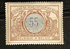 1902 - 1914 Belgium Railway - Sc# Q37, 55c Mnh