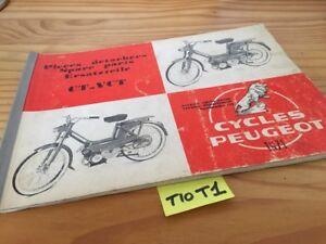 Peugeot CT Vct 1971 Catalogue Spare Parts List Moped