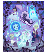 2019 Disney D23 Expo Ladies of the Haunted Mansion Canvas Wrap Joey Chou LE 25