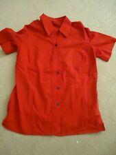 WOMEN'S RED  SIZE 10 SHORT SLEEVE SHIRT