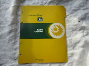 1978 John Deere 55 riding mower lawn tractor parts catalog manual