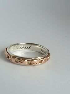 Beautiful Clogau Tree Of Life Cariad Ring Silver & Welsh Gold Hallmarked Not..