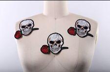 Skull rose patch