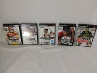 Lot of 5 Playstation 2-PS2-SPORTS Games-NCAA Football 2004-Madden 2005-NHL 2K6