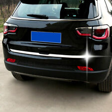 For Jeep Compass 2017 2018 Chrome Rear Trunk Tailgate Door Cover Trim Molding