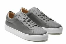 Greats Men's Sneaker Shoe 13 Royale Leather Perforated Low Top Grey Ash Sold Out