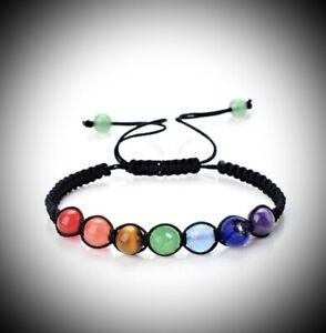 7 Chakra Heilung Balance Perlen Armband Yoga Lebensenergie Armband Schmuck ..