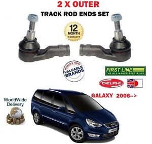 FOR FORD GALAXY + TDCI 2006->NEW  2 x OUTER STEERING TIE TRACK RACK ROD END