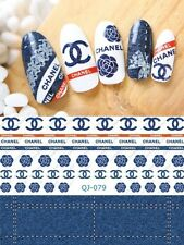 NAIL ART WATER TRANSFERS Designer Logo STICKERS DECALS! Nail Decals! Art Design!