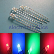 Hot 3mm Dual Bi-Color Red/Green/Blue Super bright/Diffused Bright 3Pin Led diode