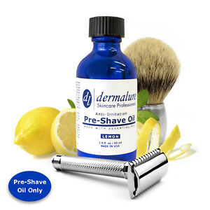 Pre-Shave Oil LEMON ESSENTIAL OIL 100% All Natural Oil for Sensitive Skin 2 OZ