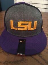 5458a30cd1c New Nike True Men s LSU Tigers Football Hat Cap OSFM 814012-547 NWT Purple  Gold