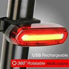 120 Lumens LED Bike Tail Light USB Rechargeable Powerful Bicycle Rear Light Hot~