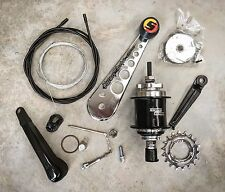 THREE SPEED STURMEY ARCHER HUB SHIFTER KIT BLACK DRAGSTER CHOPPER LOWRIDER