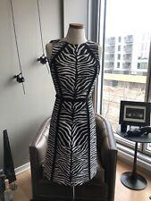 Michel Kors Zebra Print Dress Made in Italy Size 0 MSRP $1795