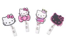 Finex Hello Kitty Set of 4 Retractable Name Badge Holder Reel Pull Out Clip On