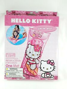 "NEW Intex Hello Kitty Inflatable Swim Mat For Ages 3+ Years Lounger 46"" x 23"""