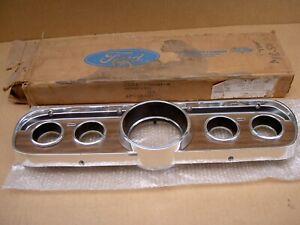 65-66  Ford Mustang woodgrain instrument cluster bezel, C5ZZ-10838-B, NOS