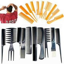 10 Hair Comb Set Kit Styling Salon Detangle Hairdressing Tail Wide Teeth Color