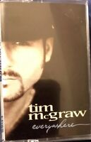 Everywhere by Tim McGraw (Cassette, Jun-1997, Curb)