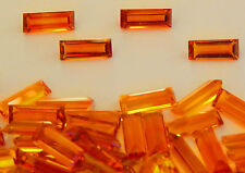 Natural Citrine Faceted Baguettes  8x3 mm     1  piece