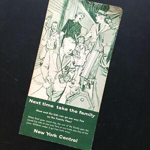 '40s NEW YORK CENTRAL RAILROAD brochure fare folder THE BILTMORE HOTEL Manhattan