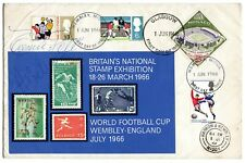 More details for gb *pele* signed cover 1966 football world cup + brazil captain 2 autographs lw1