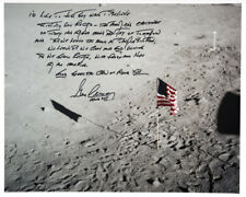 Gene Cernan Signed 20 x 16 Photo w Handwritten Quote