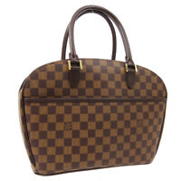 LOUIS VUITTON SARRIA HORIZONTAL HAND BAG DAMIER EBENE N51282 AR1004 02413