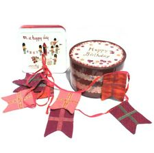 LOT ANNIVERSAIRE MAILEG fanions et boites on a happy day garland happy birthday