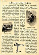 Die Wissenschaft im Dienste der Justiz  Blutnachweis durch das Spektroskop..1899