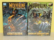WOLVERINE: THE BEST THERE IS vol 1-2 HCs - Huston RYP - Marvel - CONTAGION Quara
