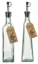 NEW Tapered Glass Oil Vinegar Vinaigrette Dressing Bottles Drizzle Pourer Spout