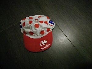 Tour de France:  gepunktetes Cap von Sponsor Carefour / dicke Qualität