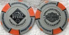 Sierra Steel Harley-Davidson® in Chico, CA Collector Poker Chip Tan/Orange NEW
