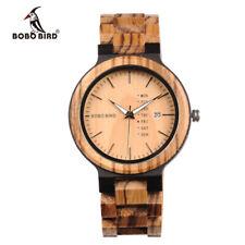 Orologio al quarzo da uomo BOBOBIRD Q26-1 Cinturino in legno Moda Orologio C5A9
