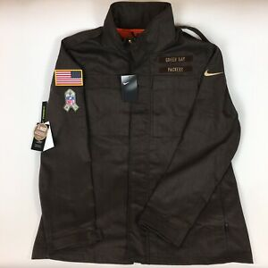 Nike Green Bay Packers NFL Salute To Service Hoodie Jacket Men's Sz S AT7705-237