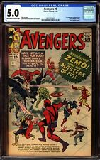 Avengers 6 CGC 5.0 1st Appearance of Baron Zemo Masters of Evil Read Description