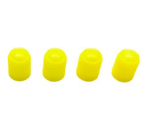 4x Yellow, plastic valve tyre Dust Caps for: Car, Van, Bikes, BMX , Motorbike