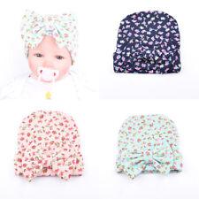 Cute Newborn Baby Girl Boy Bow Knot Floral Turban Head Wrap Ear Cap Hats