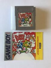 """Gameboy Bubble Bobble With Manual And Plastic Case """"Rare"""""""