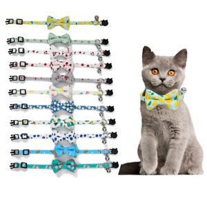 Safety Elastic Bowtie With Bell Small Dog Cat Collar Safe Soft Pet Products