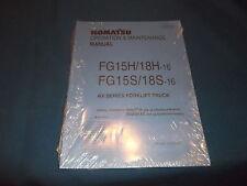 MITSUBISHI FG15H-16 FG18H-16 FG15S-16 FG18S-16 FORKLIFT PARTS BOOK MANUAL