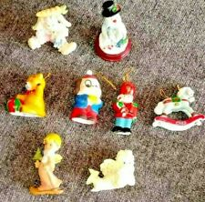 9 pc Vintage Christmas tree ornaments and decoration angels