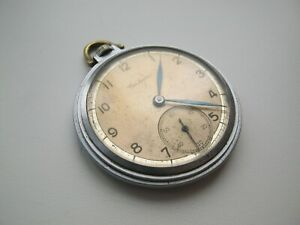 ☭ SALUT MOLNIJA Soviet USSR POCKET WATCH 1948 ☭