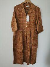 BNWT Toast Small Paisley Print Cotton Shirt Dress Size UK 18 * NEW * RRP £140.00