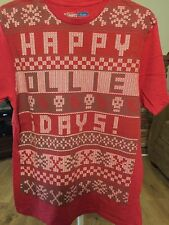 Vans Happy Ollie Days Graphic T-Shirt-Red MEN'S Medium