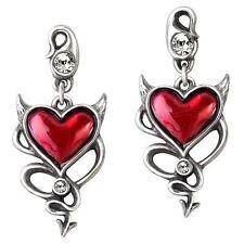 Alchemy silberne Ohrringe Devil Heart