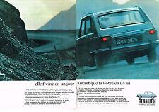 PUBLICITÉ  1970   RENAULT 16  elle freine  ( 2 pages)