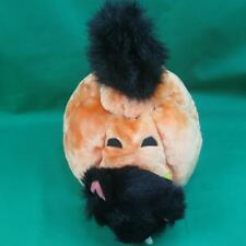 ORANGE PUMPKIN BLACK CAT COSTUME CANDY DISH HALLOWEEN PLUSH STUFFED ANIMAL TOY